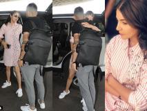 Video: विराट को एयरपोर्ट पर छोड़ने आईं अनुष्का शर्मा, गले लगाकर किया विदा
