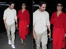 वाइफ ताहिरा कश्यप के साथ मुंबई के बांद्रा में दिखे आयुष्मा खुराना, जच रहा था व्हाइट स्वेट शर्ट- देखें तस्वीरें