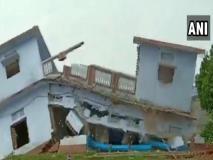 यूपी के बलिया में दो मंजिला मकान भर-भराकर ढह गया, खौफनाक मंजर का वीडियो वायरल