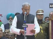 भूपेश बघेल बने छत्तीसगढ़ के मुख्यमंत्री, राहुल गांधी समेत कई नेताओं की मौजूदगी में ली शपथ
