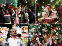 विधानसभा चुनाव: कांग्रेस कार्यकर्ताओं ने ऐसे मनाया जीत का जश्न, देखें तस्वीरें