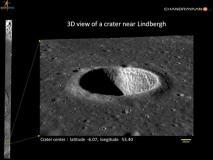 Chandrayaan-2: चंद्रयान-2 ने अंतरिक्ष से भेजी चांद की रोमांचित कर देने वाली 3डी इमेज, देखें