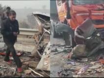 हरियाणा: झज्जर बाईपास पर कोहरे के कारण 50 गाड़ियां एक-दूसरे से टकराईं, 7 लोगों की मौत