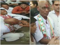मोदी के जीतने पर शर्त हार गया कांग्रेस कार्यकर्ता तो मुड़वा लिया सर