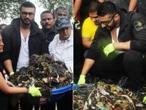 अर्जुन कपूर ने की समुद्र किनारे की सफाई, लोगों के साथ मिलकर उठाया कचरा-देखें तस्वीरें