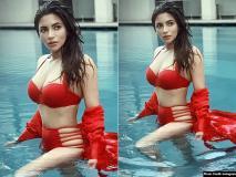 शमा सिकंदर ने रेड बिकनी पहनकर स्विमिंग पूल में लगाई आग, देखें तस्वीरें
