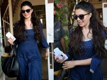 ब्लू कलर की कुर्ती पहने स्टनिंग लुक में स्पॉट हुईं जैकलीन, देखें इंडियन लुक में उनकी ये खास तस्वीरें