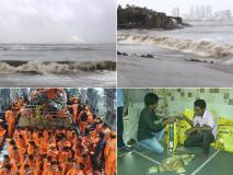Cyclone Vayu Photos: चक्रवाती तूफान 'वायु' से प्रभावित हुए लोग, गुजरात में इस तूफ़ान की आने की आशंका हुई कम