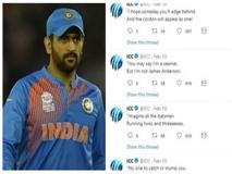 धोनी का जबरा फैन हुआ ICC, महज 16 मिनट में कर दिए बैक-टू-बैक 14 ट्वीट्स