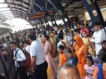 दिल्ली मेट्रो की ब्लू लाइन पर रफ्तार थमी,रक्षाबंधन और स्वतंत्रता दिवस के कारण काफी भीड़