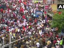 रोजगार के खिलाफ सीएम ममता के खिलाफ वाममोर्चा का मार्च, कार्यकर्ताओं ने पुलिस पर पथराव किया, पुलिस ने आंसू गैस के गोले दागे
