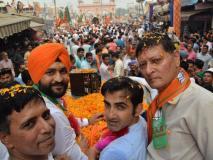 भाजपा सांसद गंभीर नेपूर्व हॉकी कप्तान संदीपके पक्ष में किया रोड शो औरप्रचार, कहा-दत्त वफोगाट को पास कर दीजिए