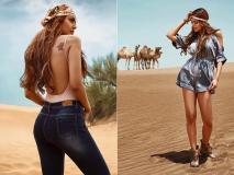 Photos: ईशा गुप्ता ने रेगिस्तान में कराया हॉट फोटोशूट, बिकिनी और हॉट पैंट आईं नजर