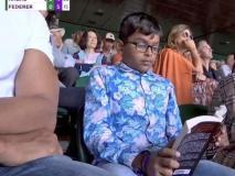 इस भारतीय बच्चे ने किताब पढ़ने के लिए खरीदा फेडरर-नडाल के मैच का 7 लाख रुपये का टिकट! तस्वीर हुई वायरल
