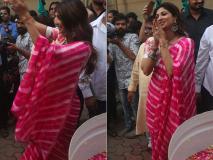 Photos: गणेश विसर्जन में शिल्पा शेट्टी ने जमकर लगाए ठुमके, राज कुंद्रा भी रहे मौजूद