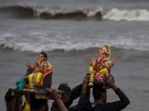 Ganesh Visarjan: 'गणपति बप्पा मोरिया, अगले बरस तू जल्दी आ' के जयकारों के साथ भगवान गणेश की प्रतिमाएं विसर्जित