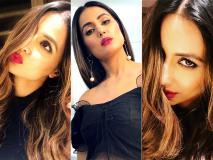 हिना खान ने ब्लैक ड्रेस में सोशल मीडिया पर पोस्ट की ग्लैमरस तस्वीरें