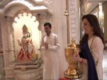 IPL ट्रॉफी लेकर मंदिर पहुंची नीता अंबानी, भगवान का किया शुक्रिया अदा
