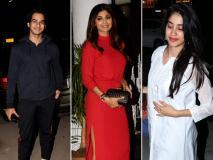 Celebs Spotted: जाह्नवी कपूर, शिल्पा शेट्टी, ईशान खट्टर इस खास लुक के साथ जुहू में आए नजर
