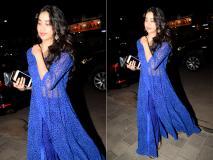 जाह्नवी कपूर ने ब्लू ड्रेस में बढ़ाई फैंस की धड़कने, तस्वीरों में देखें दिलकश अंदाज