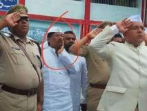 बिहार: JDU विधायक शर्फुद्दीन ने किया तिरंगे का अपमान, तस्वीर आई सामने
