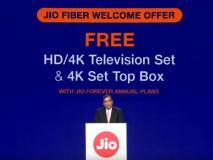 जियो गीगाफाइबर दे रहा है फ्री 4K LED TV और Smart सेट टॉप बॉक्स, अभी कराएं रजिस्ट्रेशन