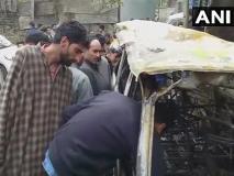 जम्मू-कश्मीर: बीजेपी नेता को मारने आए थे आतंकवादी, नहीं मिला तो दो वाहनों को स्वाहा कर भागे