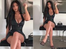 Kylie Jenner Hot photos: काइली जेनर ने शेयर की ब्लैक शॉर्ट ड्रेस में हॉट फोटोज, देखें मॉडल की बोल्ड तस्वीरें