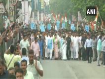 NRC के खिलाफ सीएम ममता बनर्जी कोलकाता की सड़कों पर उतरीं, TMC कार्यकर्ताओं का उमड़ा हुजूम