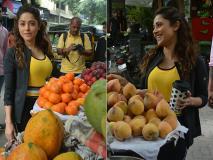 Photos: मुंबई की सड़कों पर फ्रूट्स लेती नजर आईं नुसरत भरूचा