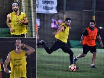 Pics: रणबीर कपूर के साथ फुटबॉल खेलते नजर आए अर्जुन कपूर और कार्तिक आर्यन