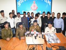 अवैध हथियार की तस्करी मे लिप्त 4 गिरफ्तार,6 देशी पिस्टल व कारतूस पुलिस ने किए जप्त