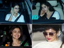 Raazi Movie Screening: सोनम कपूर की शादी के बाद बॉलीवुड सेलेब्स ने देखी राजी फिल्म