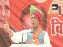 हरियाणा चुनाव: राजनाथ सिंह कांग्रेस पर जमकर बरसे, कश्मीर को लेकर पूछा ये तीखा सवाल
