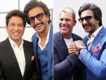 वर्ल्ड कप के बीच दिग्गज क्रिकेटर्स से मिले बॉलीवुड स्टार रणवीर सिंह, शेयर की तस्वीरें
