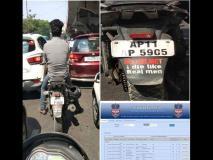 बाइक पर लिखवा कर घूम रहा था, 'मर्द हेलमेट नहीं पहनते', पुलिस ने चखाया मजा