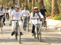 सऊदी अरब: रियाद में महात्मा गांधी की जयंती पर साइकिल रैली से भारत ने दिया वैश्विक शांति का संदेश