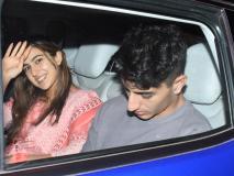 'सिम्बा' गर्ल सारा अली खान भाई इब्राहिम के साथ पापा सैफ से मिलने उनके घर पहुंचीं, Pics में देखें गॉर्जियस लुक