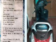 65 हजार के स्कूटर का कटा एक लाख रुपये का चालान, शोरूम खरीद कर घर ले जा रहा था शख्स