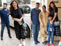Photos: शिल्पा शेट्टी अपनी फैमिली के साथ इस खास अंदाज में आईं नजर