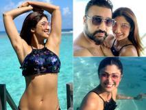 शिल्पा शेट्टी ने इस हॉट अंदाज में मनाई शादी की 9वीं एनिवर्सरी, मालदीव में पति के साथ किस करती आईं नजर