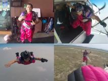 इस महिला ने साड़ी पहन 13 हजार फीट उंचाई से लगाई छलांग, ऐसा करने वाली बनी पहली भारतीय