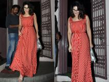 रेड हॉट ड्रेस में सनी लियोनी बांद्रा में हुईं स्पॉट, देखें उनकी दिलकश तस्वीरें