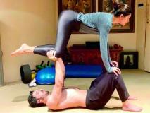 सुष्मिता सेन ने बॉयफ्रेंड के साथ किया योगा, रिलेशनशिप में भी होना चाहिए ऐसा बैलेंस
