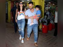 बदले-बदले से नजर आए सैफ अली खान, पत्नी करीना और बेटे तैमूर के साथ बांद्रा में हुए स्पॉट-देखें तस्वीरें