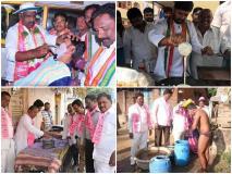 तेलंगाना चुनाव: वोट के लिए नेताओं के नए फंडे, कोई बना हजाम तो कोई बना रहा डोसा