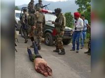 कश्मीर: आतंकियों के शव को रस्सी में बांध घसीटते हुए ले जाने पर सेना ने दी ये सफाई, वायरल हुई थी तस्वीर