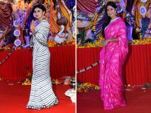 अयान मुखर्जी संग कैटरीना कैफ पिंक साड़ी पहन पहुचीं दुर्गा पूजा में, मौनी रॉय ने किया ट्रेडिशनल डांस