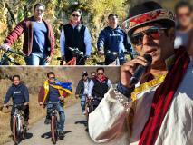 सलमान खान ने अरुणाचल की वादियों में राजनेताओं संग चलाई साइकिल, देखिए सुकून भरी तस्वीरें