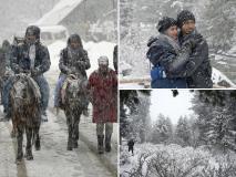 भारी बर्फबारी के बाद सफेद चादर से ढका कश्मीर, खूबसूरत नजारे दिन बना देंगे